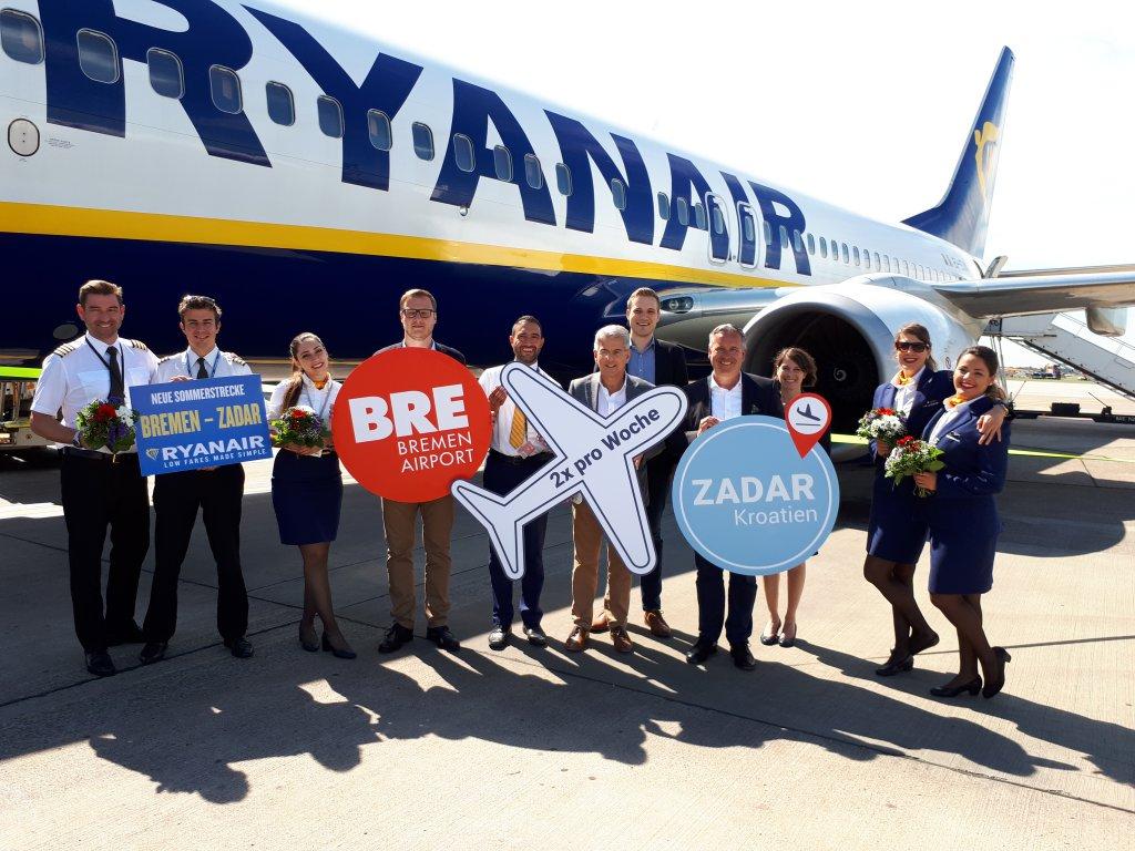 Ryanair Startet Neue Sommerstrecke Von Bremen Nach Zadar