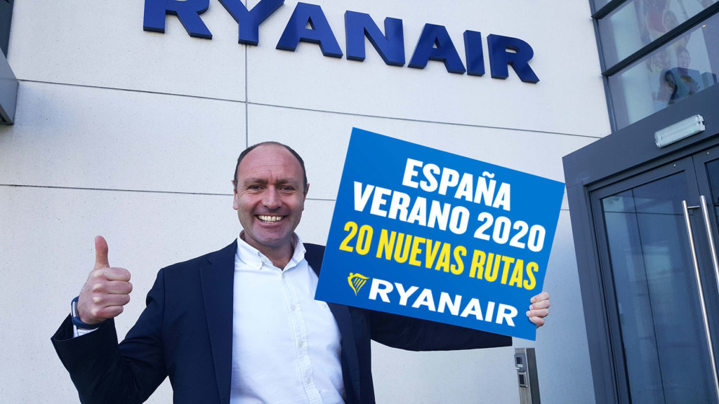 Ryanair launches New Routes to SPAIN