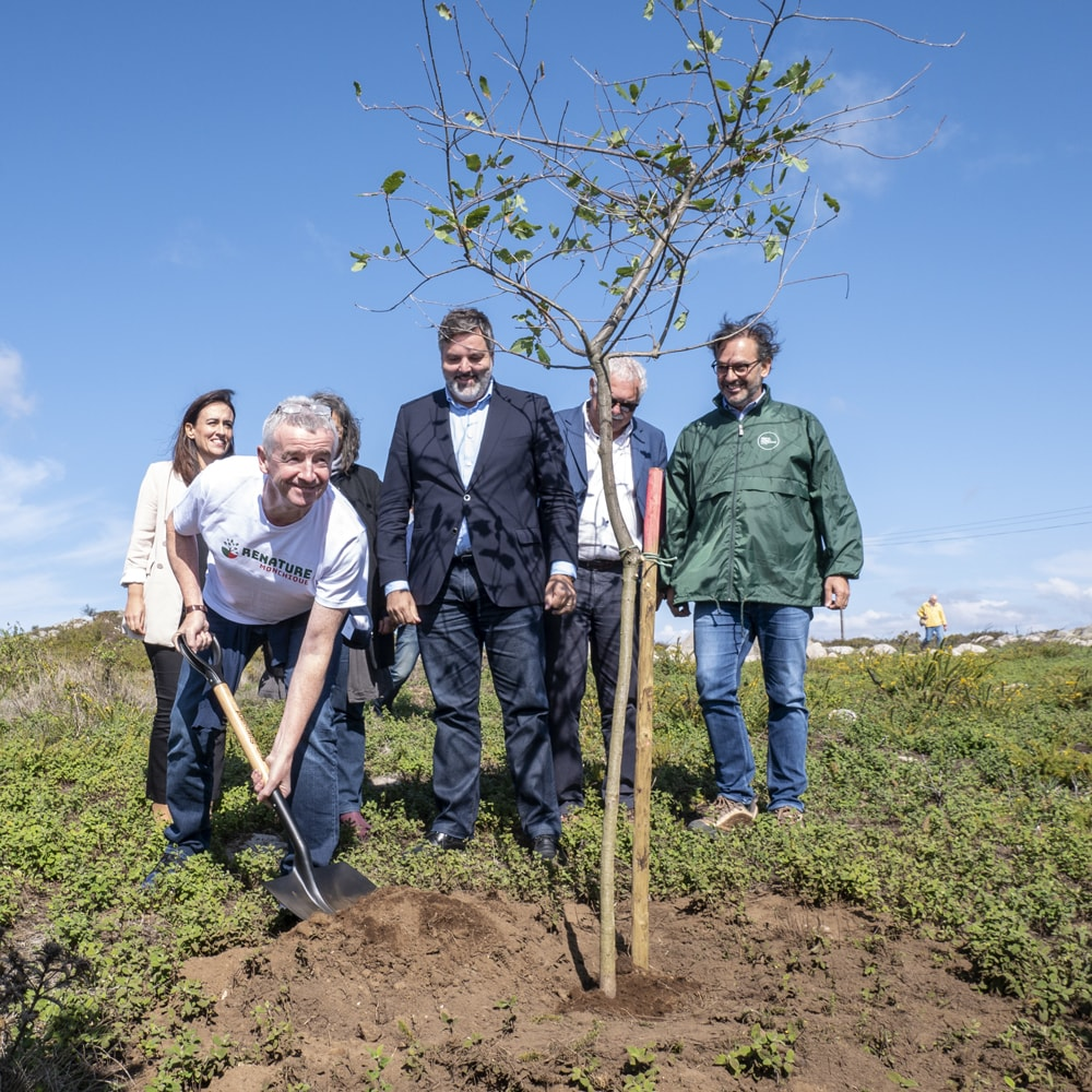 Michael O'Leary is planting tree